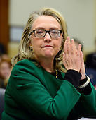 """United States Secretary of State Hillary Rodham Clinton testifies before the U.S. House Committee on Foreign Relations on """"Terrorist Attack in Benghazi: The Secretary of State's View"""" in Washington, D.C. on Wednesday, January 23, 2013..Credit: Ron Sachs / CNP.(RESTRICTION: NO New York or New Jersey Newspapers or newspapers within a 75 mile radius of New York City)"""