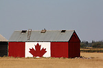 CANADA FLAG ON GRAIN BIN
