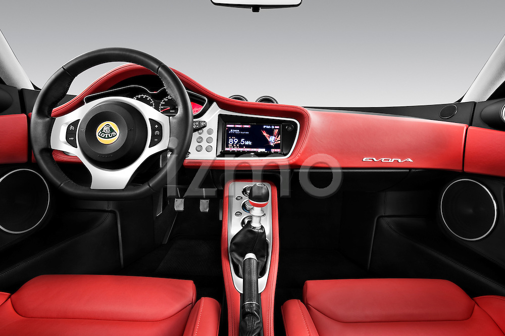 Straight dashboard view of a 2009 Lotus Evora 2 Door Coupe