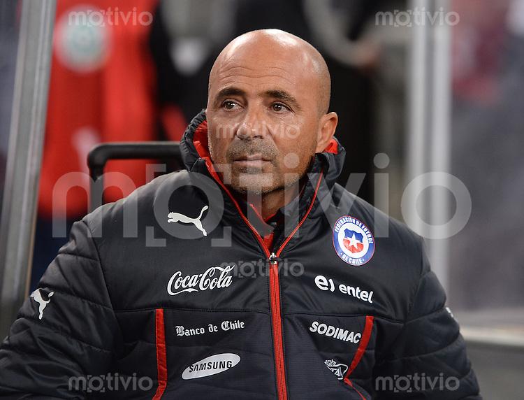 FUSSBALL INTERNATIONALES TESTSPIEL in Stuttgart Deutschland - Chile         05.03.2014 Trainer Jorge Sampaoli (Chile)