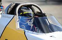 Nov 11, 2010; Pomona, CA, USA; NHRA top alcohol dragster driver Don St. Arnaud during qualifying for the Auto Club Finals at Auto Club Raceway at Pomona. Mandatory Credit: Mark J. Rebilas-