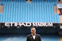 Swansea City manager Carlos Carvalhal inspects the pitch prior to the Premier League match between Manchester City and Swansea City at the Etihad Stadium, Manchester, England, UK. Sunday 22 April 2018