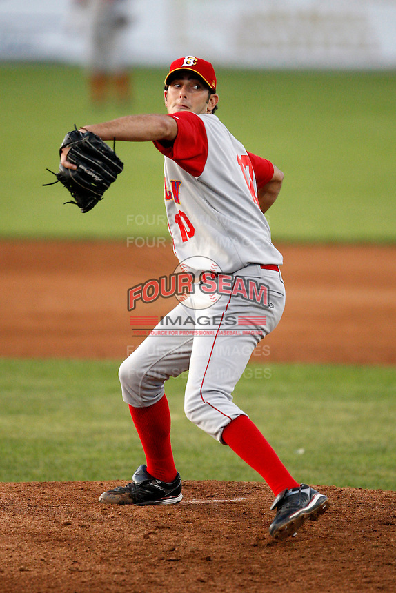 August 6, 2009:  Pitcher Erik Turgeon of the Brooklyn Cyclones during a game at Dwyer Stadium in Batavia, NY.  The Cyclones are the Short-Season Class-A affiliate of the New York Mets.  Photo By Mike Janes/Four Seam Images
