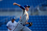 St. Lucie Mets starting pitcher Thomas McIlraith (23) delivers a pitch during a game against the Dunedin Blue Jays on April 19, 2017 at Florida Auto Exchange Stadium in Dunedin, Florida.  Dunedin defeated St. Lucie 9-1.  (Mike Janes/Four Seam Images)