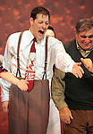 John Bolton & Dan Lauria during the Broadway Opening Night Performance Curtain Call for 'A Christmas Story - The Musical'  at the Lunt Fontanne Theatre in New York City on 11/19/2012.