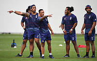 Albert Vete and Manaia Cherrington.<br /> Vodafone Warriors training session. NRL Rugby League. Mt Smart Stadium, Auckland, New Zealand. Thursday 8 February 2018 &copy; Copyright Photo: Andrew Cornaga / www.photosport.nz