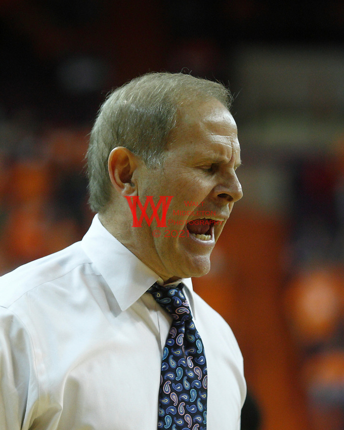 Nov 30, 2010; Clemson, SC, USA; Michigan Wolverines head coach Brad Brownwell yells at his players in the game against the Clemson Tigers at Littlejohn Coliseum. Mandatory Credit: Daniel Shirey/WM Photo -US PRESSWIRE