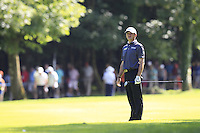 Paul Lawrie (SCO) prepares to play his 2nd shot on the 18th hole during Friday's Round 2 of the 2014 Irish Open held at Fota Island Resort, Cork, Ireland. 20th June 2014.<br /> Picture: Eoin Clarke www.golffile.ie