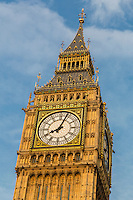 UK, England, London.  Big Ben Clock Tower, Elizabeth Tower, Westminster Palace.