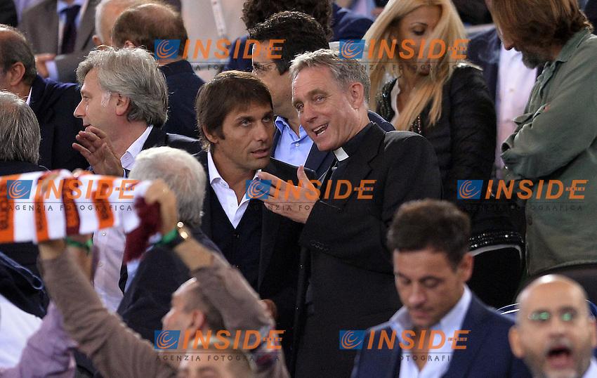 Antonio Conte e Padre Gerorg.<br /> Roma 21-10-2014 Stadio Olimpico, Football Calcio Champions League Group Stage Group E AS Roma - Bayern. Foto Antonietta Baldassarre / Insidefoto