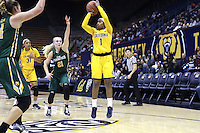 BERKELEY, CA - November 26, 2016: Cal Bears Women's Basketball team vs. the University of San Francisco Dons at Haas Pavilion. Final score, Cal Bears 75, University of San Francisco Dons 52.