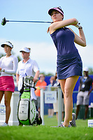 Sandra Gal (DEU) watches her tee shot on 1 during Thursday's round 1 of the 2017 KPMG Women's PGA Championship, at Olympia Fields Country Club, Olympia Fields, Illinois. 6/29/2017.<br /> Picture: Golffile | Ken Murray<br /> <br /> <br /> All photo usage must carry mandatory copyright credit (&copy; Golffile | Ken Murray)