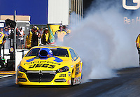 Jul. 25, 2014; Sonoma, CA, USA; NHRA pro stock driver Jeg Coughlin Jr during qualifying for the Sonoma Nationals at Sonoma Raceway. Mandatory Credit: Mark J. Rebilas-