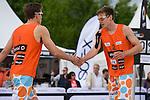 09.05.2015, Muenster, Schlossplatz<br /> smart beach tour, Supercup MŸnster / Muenster, Hauptfeld<br /> <br /> Bennet Poniewaz, David Poniewaz <br /> <br />   Foto &copy; nordphoto / Kurth