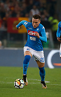 Piotr Zielinski  during the  italian serie a soccer match, AS Roma -  SSC Napoli       at  the Stadio Olimpico in Rome  Italy , 14 ottobre 2017