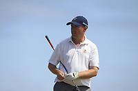 Joe Lyons (Galway) on the 17th tee during Round 2 - Strokeplay of the North of Ireland Championship at Royal Portrush Golf Club, Portrush, Co. Antrim on Tuesday 10th July 2018.<br /> Picture:  Thos Caffrey / Golffile