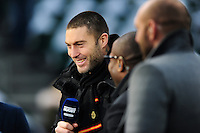 Matt Banahan of Bath Rugby looks on as a BT Sport pundit prior to the match. Aviva Premiership match, between Bath Rugby and Exeter Chiefs on December 31, 2016 at the Recreation Ground in Bath, England. Photo by: Patrick Khachfe / Onside Images