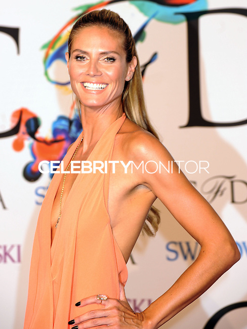 NEW YORK CITY, NY, USA - JUNE 02: Heidi Klum arrives at the 2014 CFDA Fashion Awards held at Alice Tully Hall, Lincoln Center on June 2, 2014 in New York City, New York, United States. (Photo by Celebrity Monitor)