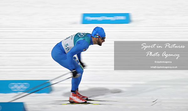 Mirco Bertolina (ITA). Mens sprint classic qualification. Cross country skiing. Alpensia Croos-Country skiing centre. Pyeongchang2018 winter Olympics. Alpensia. Republic of Korea. 13/02/2018. ~ MANDATORY CREDIT Garry Bowden/SIPPA - NO UNAUTHORISED USE - +44 7837 394578
