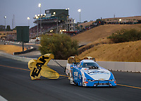 Jul 27, 2018; Sonoma, CA, USA; NHRA funny car driver John Force during qualifying for the Sonoma Nationals at Sonoma Raceway. Mandatory Credit: Mark J. Rebilas-USA TODAY Sports