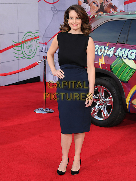 Tina Fey attends Disney's Muppets Most Wanted World Premiere held at The El Capitan Theatre in Hollywood, California, USA on March 11 ,2014  <br /> CAP/DVS<br /> &copy;DVS/Capital Pictures