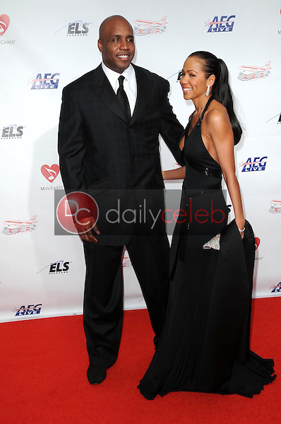 Barry Bonds and wife Liz<br />