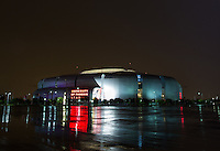 Aug 19, 2014; Glendale, AZ, USA; Exterior view of University of Phoenix Stadium , home of the Arizona Cardinals. Mandatory Credit: Mark J. Rebilas-USA TODAY Sports
