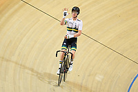 Picture by SWpix.com - 02/03/2018 - Cycling - 2018 UCI Track Cycling World Championships, Day 3 - Omnisport, Apeldoorn, Netherlands - Men's Points Race - Cameron Meyer of Australia celebrates
