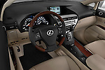 High angle dashboard view of a 2010 Lexus RX 350