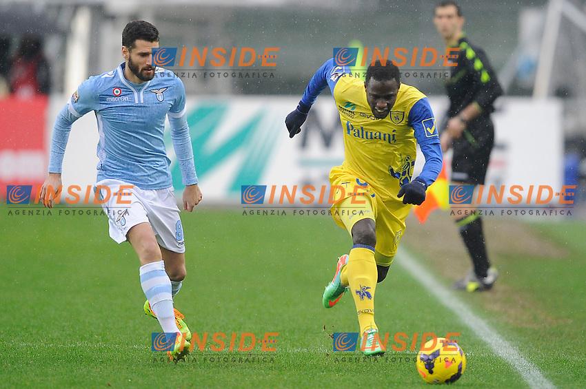 Antonio Candreva Lazio, Drame' Boukary Chievo <br /> Verona 02-02-2014 Stadio Bentegodi. Football Calcio Serie A 2013/2014 Chievo Verona - Lazio foto Insidefoto