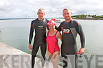 Pictured at Glin Charity Swim in aid of West Limerick Children's Services which took place in Glin on Sunday were L-R: Paul Horan, Maria Geoghan and Conor Henderson, Glin.