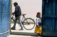 Afrique/Maghreb/Maroc/Essaouira : Scène de vie dans la Médina