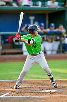 Brady Conlan (8) of the Great Falls Voyagers at bat against the Ogden Raptors in Pioneer League action at Lindquist Field on August 18, 2016 in Ogden, Utah. Ogden defeated Great Falls 10-6. (Stephen Smith/Four Seam Images)