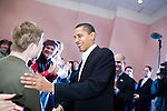 Sunday December 10th, 2006,  Portsmouth, New Hampshire.Illinois Senator Barack Obama visited Portsmouth, New Hampshire today to sign his new book and speak a message of hope to his assembled supporters who helped him sell out two packed convention halls. . He signed books and visited a local coffee shop on his way to Manchester for a New Hampshire Democratic Party fund raiser.<br />