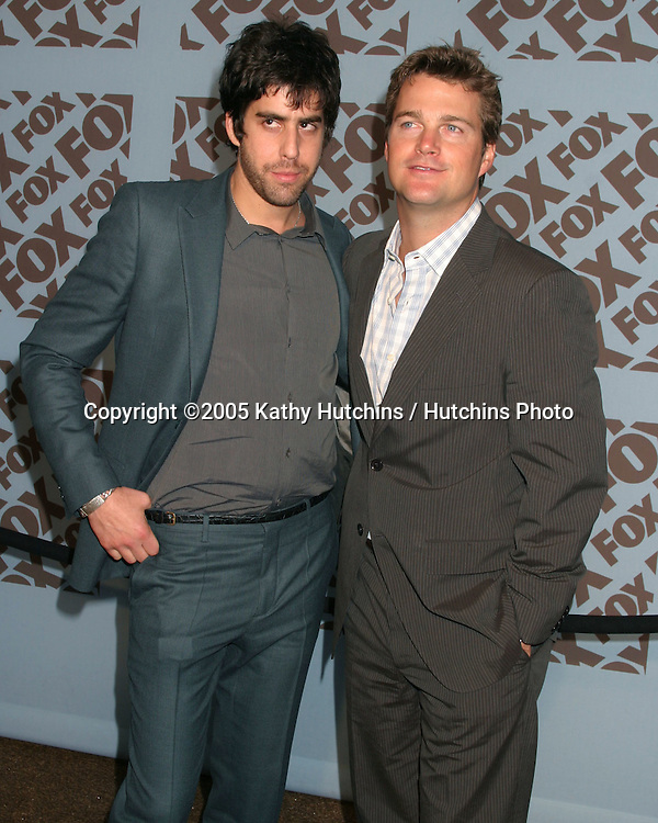 Adam Goldberg.Chris O'Donnell.Fox TV Upfronts.Boathouse at Central Park.New York City, NY.May 19, 2005.©2005 Kathy Hutchins / Hutchins Photo....