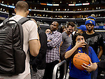 "LOS ANGELES, CA - MARCH 12:  ""One Day One Game"" A fan starts to cry when waiting to get ball signed by Stephon Curry of the Golden State Warriors during their NBA Game against the Los Angeles Clippers at the Staples Center  on March 12, 2014 in Los Angeles, California.  (Photo by Donald Miralle for ESPN the Magazine)"