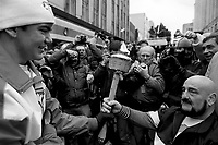 December 12, 1987 File Photo -  Former wrestler Maurice '' Mad Dog'' Vachon during the passage of the Olympic torch in downtown Montreal.<br /> <br /> Vachon died  November 21, 2013.
