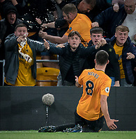 Rubén Neves celebrates his goal during the Premier League match between Wolverhampton Wanderers and Manchester United at Molineux, Wolverhampton, England on 19 August 2019. Photo by Andy Rowland.