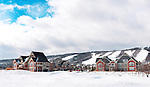 Lodging and cottages at Blue Mountain alpine ski resort, Collingwood, Ontario, Canada