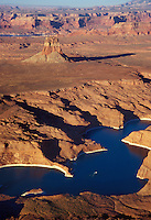 Aerial view of Lake Powell and surrounding canyonlands