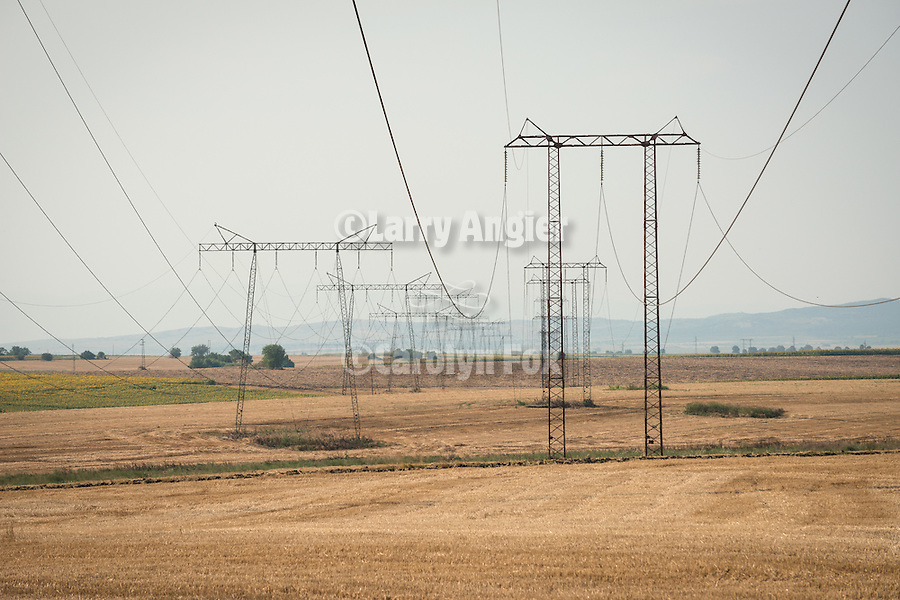 Transmission towers, Kovacevo, Bulgaria