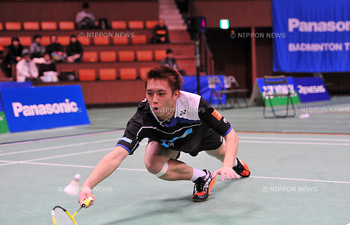 Kenichi Tago,..DECEMBER 9, 2011 - Badminton : 65th All Japan Badminton Championships Men's Singles at Yoyogi 2nd Gymnasium in Tokyo, Japan. (Photo by Jun Tsukida/AFLO SPORT) [0003]..