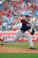 Boston Red Sox pitcher Daniel Bard #51 during a Spring Training game against the Philadelphia Phillies at Bright House Field on March 24, 2013 in Clearwater, Florida.  Boston defeated Philadelphia 7-6.  (Mike Janes/Four Seam Images)