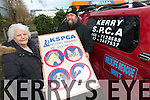 Ann McDaid and Kerrie Ryan (KSPCA) launch the No Pets For Christmas Campaign on Tuesday