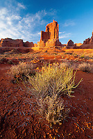 Courthouse Towers, Arches National Park, Utah, US