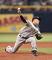 Masahiro Tanaka (Yankees),<br /> APRIL 2, 2016 - MLB :<br /> New York Yankees starting pitcher Masahiro Tanaka pitches during the opening day of the Major League Baseball game against the Tampa Bay Rays at Tropicana Field in St. Petersburg, Florida, United States. (Photo by AFLO)