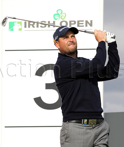 29.06.2012. County Antrim, Northern Ireland. England's David Howell during his second round of the Irish Open at Royal Portrush Golf Club in County Antrim, Northern Ireland