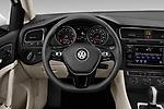 Car pictures of steering wheel view of a 2019 Volkswagen Golf S 5 Door Hatchback