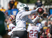 New York Jets wide receiver Terrelle Pryor (1) catches a pass as he participates in a joint training camp practice with the Washington Redskins at the Washington Redskins Bon Secours Training Facility in Richmond, Virginia on Tuesday, August 14, 2018.<br /> Credit: Ron Sachs / CNP<br /> (RESTRICTION: NO New York or New Jersey Newspapers or newspapers within a 75 mile radius of New York City)