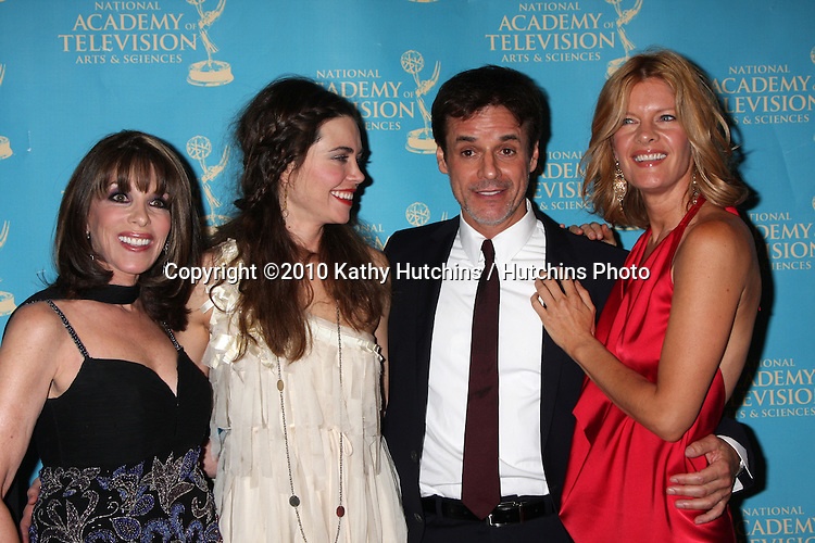 LOS ANGELES - JUN 25:  Kate Linder, Amelia Heinle, Christian LeBlanc, & Michelle Stafford  arrive at the 2010 Creative Daytime Emmys  Bonaventure Hotel in.Los Angeles, CA on June 25, 2010...
